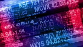Stock Market Tickers - Digital Data Display Background stock video footage