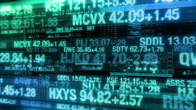 Stock Market Tickers - Digital Data Display Background stock video