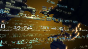 Stock Market Tickers. Loopable. stock footage