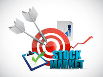 Stock market tools illustration design. Graphic over white Stock Image