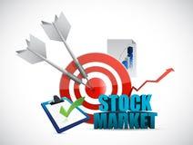 Stock market tools illustration design Stock Image