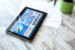 Stock market trading app on a Tablet PC Royalty Free Stock Images