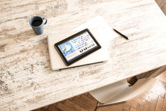 Stock market trading app on a Tablet PC Stock Images