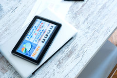 Stock market trading app on a Tablet PC Royalty Free Stock Photography