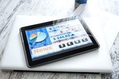 Stock market trading app on a Tablet PC Stock Photography