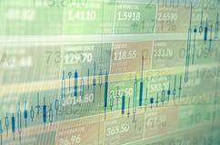 Stock market trading Stock Image