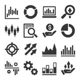 Stock Market Trading Icons Set. Vector Royalty Free Stock Photography