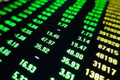 Stock market trading price green screen royalty free stock photos
