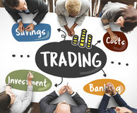 Stock Market Trading Word Diagram Concept. Business people Stock Market Trading Diagram Concept Royalty Free Stock Photos