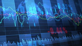 Stock Market_063. Stock market trend of animation stock video footage