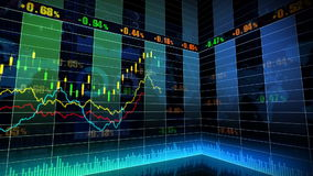 Stock Market_067. Stock market trend of animation