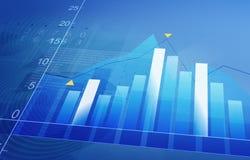 Stock market uptrend Stock Image