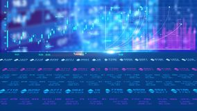 Stock Market V2 Animation Background. It could be used as a powerful intro to your films, movies, trailers, teasers, TV shows, gaming intro, commercials stock illustration