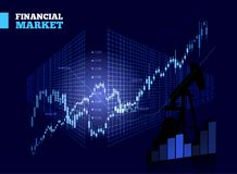 Stock Market Vector Chart Stock Photography