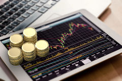 Stock market watching Royalty Free Stock Photography