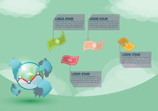 Stock Market World Presentation Money Vector. Stock Market World Presentation Money Stock Photos