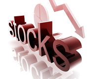 Stock market worsening Royalty Free Stock Photos