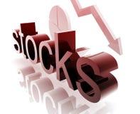 Stock market worsening Royalty Free Stock Photos