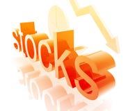 Stock market worsening Stock Image