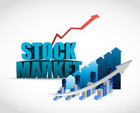 Stock markets and final graphs illustration Royalty Free Stock Photos