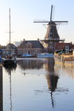 Stock mill The Vlijt in Meppel, Holland royalty free stock photos