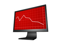 Stock monitor Royalty Free Stock Image