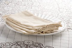Stock of Napkins Stock Photography