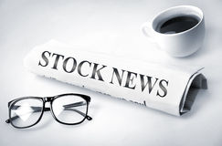 Stock News word Stock Photography