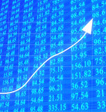 Stock numbers going up Royalty Free Stock Photography