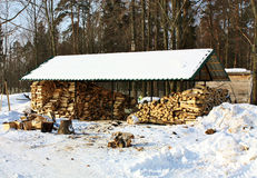 Stock Of Firewood Stock Photography