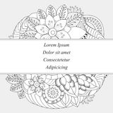 Stock  orient floral pattern. card, brochure, invitztion, Stock Image
