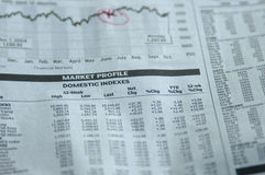 Stock page. Stock market stock image