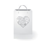 Stock   paper shopping bag on the white background Stock Image