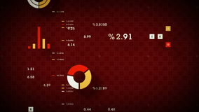 Stock Performance Chart Red stock video footage