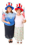 Stock Photo of American Voters. A couple of patriotic Tea Party conservative voters.  Full body isolated on white Stock Images