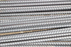 Stock Photo - Artistic steel bars closeup, reinforcement on construction site, stock photo