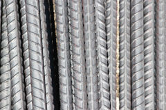 Stock Photo - Artistic steel bars closeup, reinforcement on construction site, royalty free stock image