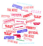 Stock Photo of Assorted Rubber Stampings Royalty Free Stock Photography