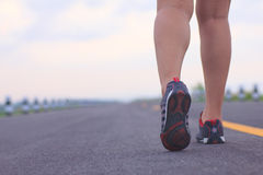 Stock Photo - athlete running sport feet on trail healthy lifest Stock Photo