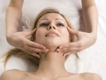 Stock photo attractive lady getting spa treatment Stock Photos