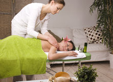 Stock photo attractive lady getting spa treatment Stock Image