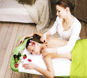 Stock photo attractive lady getting spa treatment Royalty Free Stock Photography