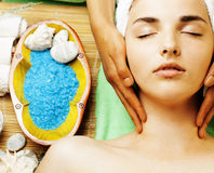 Stock photo attractive lady getting spa treatment in salon Royalty Free Stock Image