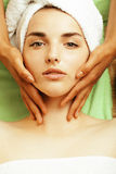 Stock photo attractive lady getting spa treatment Royalty Free Stock Photo