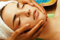 Stock photo attractive lady getting spa treatment Royalty Free Stock Photos