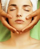 Stock photo attractive lady getting spa treatment Stock Photography