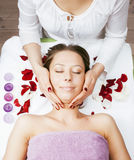 Stock photo attractive lady getting spa treatment in salon, healthcare people concept Stock Photo