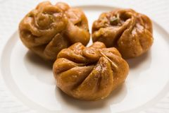Indian sweet Balushahi or Balushai Royalty Free Stock Image