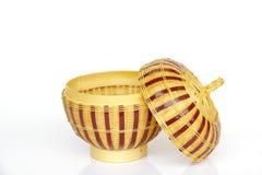 Stock Photo - Bamboo basket isolated on white background Stock Images