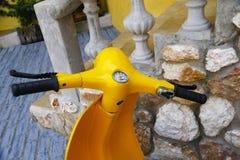 Stock Photo:Bangkok,THAILAND - 2016 Jan 3 : Yellow classic moto Stock Image